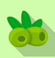 green olives food icon flat style vector image vector image