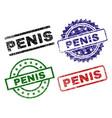 grunge textured penis stamp seals vector image