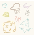 Hand drawn sketch travel set vector image vector image