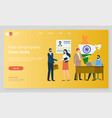 hire employees from india meeting interview web vector image vector image