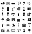 house decoration icons set simple style vector image vector image