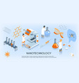 isometric nanotechnology horizontal composition vector image vector image