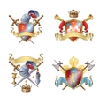 Knight Colorful Emblems vector image vector image