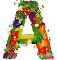 LETTERS vegetabless A vector image vector image