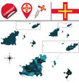 map guernsey with parishes vector image