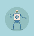 modern robot futuristic artificial intelligence vector image