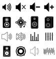 Music sound icons set vector image vector image