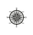 navigation and orientation instrument compass vector image