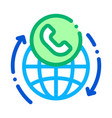 online telecommunications icon outline vector image