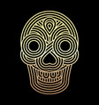 parallel lines skull symbol on black background vector image vector image