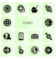 planet icons vector image vector image