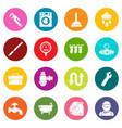 plumber symbols icons set colorful circles vector image vector image