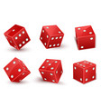 red dice with number dots from one to six at vector image vector image