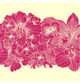 Seamless bright flower border vector image vector image
