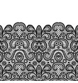 seamless vintage black lace border invitation card vector image