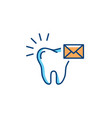send message dentist icon dental care logo tooth vector image vector image