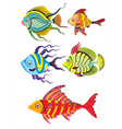 Set of Colorful Fish vector image vector image