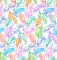 Shrimps Seamless pattern background Orange pink vector image vector image
