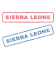 sierra leone textile stamps vector image