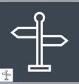 signpost thin line icon vector image vector image