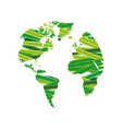 silhouette earth planet map vector image vector image