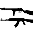 silhouettes of soviet machine guns vector image vector image