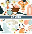 spa salon poster with text and relaxing woman vector image vector image