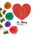 st mary the virgin design vector image vector image