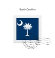 State of South Carolina flag postage stamp vector image vector image