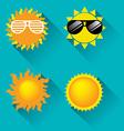 Sun icon for summer concept vector image