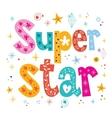 Super star decorative lettering type design vector image vector image