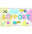 support business poster icons vector image