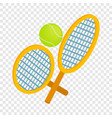 tennis rackets with ball isometric icon vector image vector image