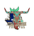 texas longhorn festival vector image