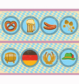 vintage beer elements with oktoberfest symbol on vector image