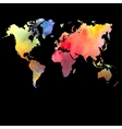 watercolor map on a black background vector image vector image