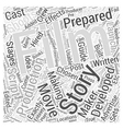 What Exactly Is Film Making Word Cloud Concept vector image vector image