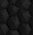 Black Polygonal Background vector image