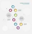 timeline infographic template 8 step option design vector image