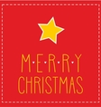 Christmas card or invitation for party with star vector image