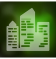 city skyscrapers icon on blurred background vector image