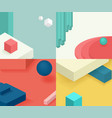 isometric template cover design geometric simple vector image