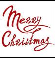template christmas card vector image
