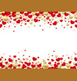 a seamless background for valentines day vector image vector image