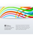 Abstract horizontal band vector image