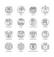 artificial intelligence line icons 3 vector image vector image
