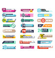 banners tv graphic square horizontal internet vector image vector image