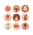 Barbecue grill Icon set vector image vector image