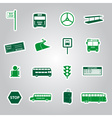 bus transport stickers eps10 vector image vector image