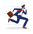 businessman running with a briefcase vector image